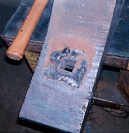 Anvil Bottom View with Weld